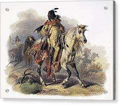 Bodmer: Blackfoot Horseman Acrylic Print by Granger