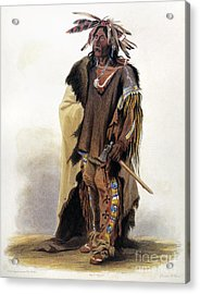 Bodmer: Sioux Chief Acrylic Print by Granger