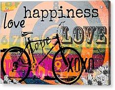 Bohemian Bicycle Love Acrylic Print by Anahi DeCanio