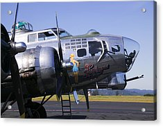 Bomber Sentimental Journey Acrylic Print by Garry Gay