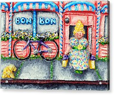 Bon Bon Betty Acrylic Print by Alison  Galvan