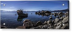 Bonsai Rock Lake Tahoe Acrylic Print by Brad Scott