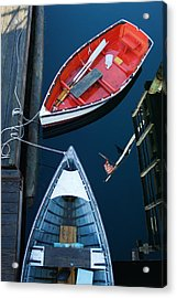 Boothbay Boats 1 Acrylic Print by Ron St Jean