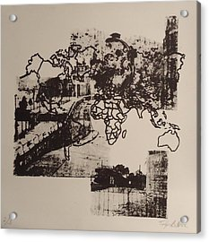 Borders 1 Acrylic Print by Taylor Lee Bisbee