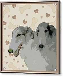Borzoi Acrylic Print by One Rude Dawg Orcutt