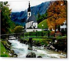 Bosnian Country Church Acrylic Print by Jann Paxton