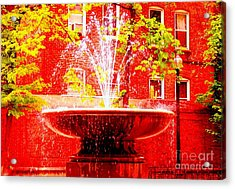 Boston Red Acrylic Print by Ann Johndro-Collins