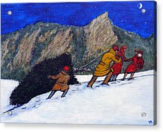 Boulder Christmas Acrylic Print by Tom Roderick