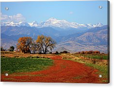 Boulder County Colorado Landscape Red Road Autumn View Acrylic Print by James BO  Insogna
