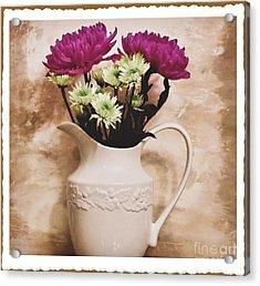 Bouquet One Acrylic Print by Marsha Heiken