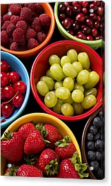Bowls Of Fruit Acrylic Print by Garry Gay