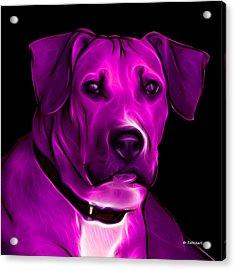 Boxer Pitbull Mix Pop Art - Magenta Acrylic Print by James Ahn