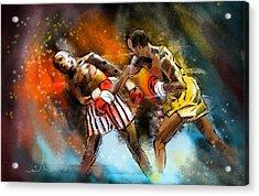 Boxing 01 Acrylic Print by Miki De Goodaboom