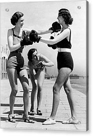 Boxing On The Prom Acrylic Print by William Vanderson