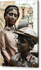 Boy And Girl In Wartime Acrylic Print by Steve K