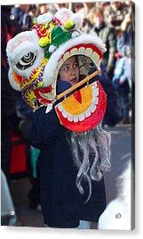 Boy With The Dragon Mask Acrylic Print by Jeff Stein