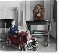 Boy With Toy Car Acrylic Print by Andrew Fare