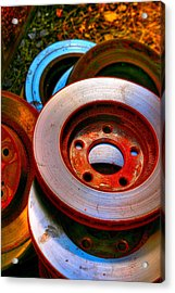 Brakes Acrylic Print by Terry Finegan