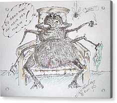 Brazilian Wandering Spider Acrylic Print by Paul Chestnutt
