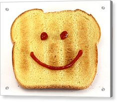 Bread With Happy Face Acrylic Print by Blink Images