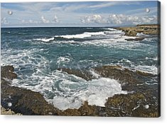 Breaking Waves 7919 Acrylic Print by Michael Peychich