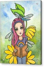 Brianna's Dragonflies Acrylic Print by Nora Blansett