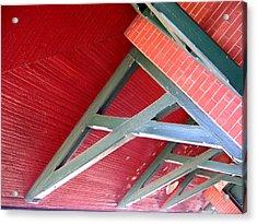 Brick And Wood Truss Acrylic Print by Denise Keegan Frawley