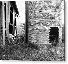 Brick Silo Wales Acrylic Print by Jan Faul
