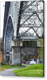 Bridge Footing And Anchor Point Acrylic Print by Don Mason