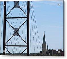 Bridge Fortress Acrylic Print by Tina M Wenger