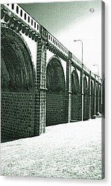 Bridge In Ribeira Grande Acrylic Print by Gaspar Avila