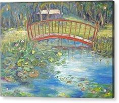 Bridge In Vero Beach Acrylic Print by Barbara Anna Knauf