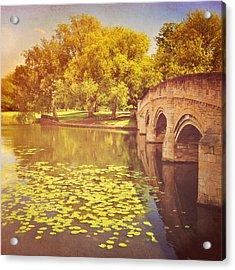 Bridge Over River Acrylic Print by Photo - Lyn Randle