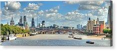 Bridge Over River Thames In London Acrylic Print by Richard Fairless
