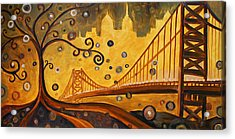 Bridge Acrylic Print by Sara Coolidge