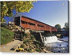 Bridgeton Covered Bridge - Fm000064 Acrylic Print by Daniel Dempster