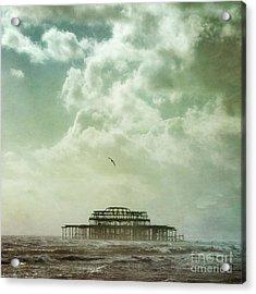 Brighton Seascape Acrylic Print by Paul Grand