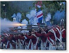 British Night Battle Acrylic Print by JT Lewis