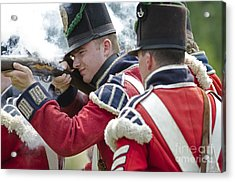 British Soldier Shooting Acrylic Print by JT Lewis