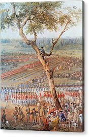 British Troops Surrender At Yorktown Acrylic Print by Photo Researchers