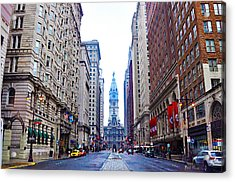 Broad Street Avenue Of The Arts Acrylic Print by Bill Cannon