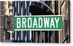 Broadway Sign Color 16 Acrylic Print by Scott Kelley