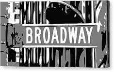 Broadway Sign Color Bw3 Acrylic Print by Scott Kelley