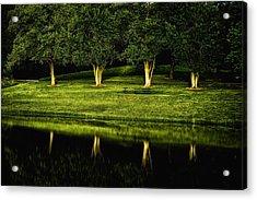 Broemmelsiek Park Green Acrylic Print by Bill Tiepelman