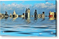 Broken Flood Barrier Acrylic Print by Sharon Lisa Clarke