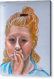 Broken Hearted Acrylic Print by Carol Allen Anfinsen