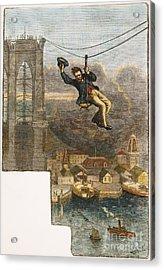 Brooklyn Bridge Mechanic Acrylic Print by Granger