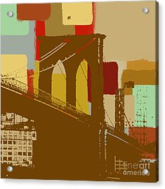 Brooklyn Bridge  Acrylic Print by Art Yashna