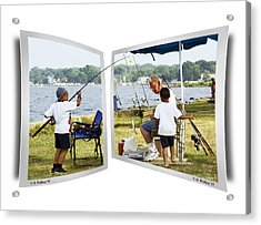 Brothers Fishing - Oof Acrylic Print by Brian Wallace