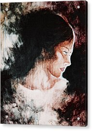 Brown Lady Acrylic Print by Sheri Lauren Schmidt